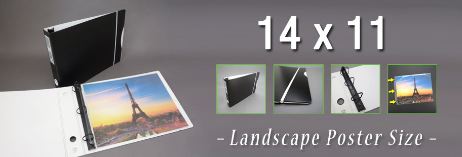 Keepfiling 14x11 Landscape Binders and Sheet Protectors