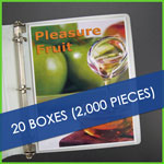Bulk 20 boxes Heavyweight Sheet Protectors
