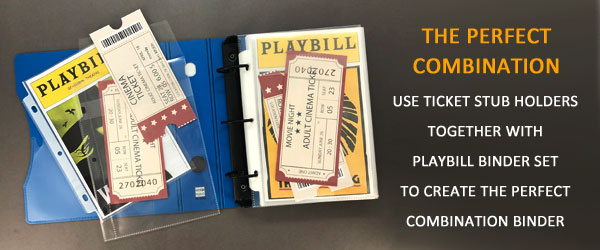 Keepfiling Ticket Stub Holder with Playbill Set