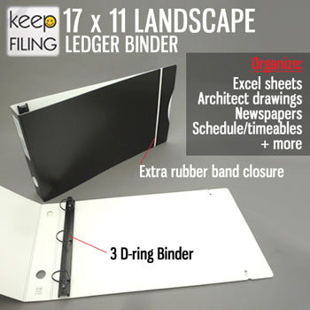 17 x 11Landscape Ledger 3 Ring Binder