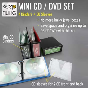 Keepfiling Mini CD Binder Set