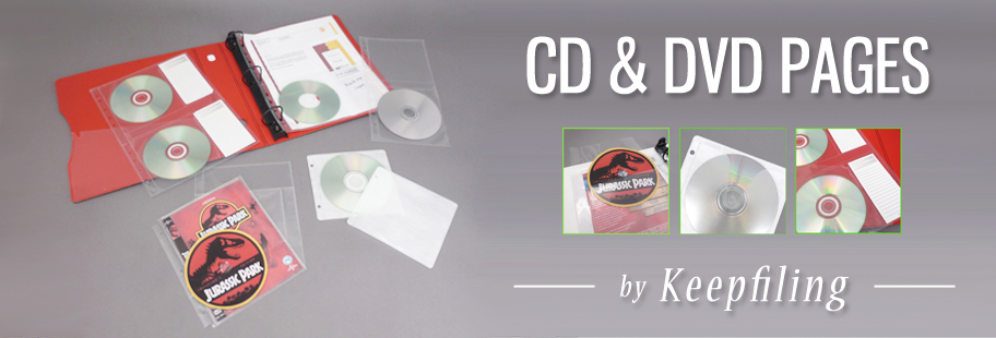 Keepfiling CD Sleeves and DVD Pages for ring binders