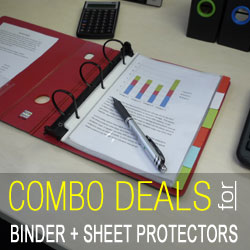 Buy Keepfiling binders and sheet protectors together