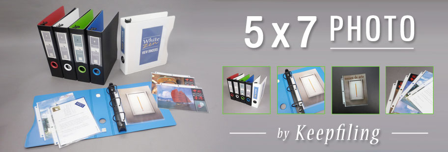 5x7 Photo Size & Postcard Size Sleeve for 5x7 3 Ring Binder