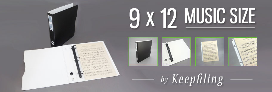Music Folio - Music Folders - 9x12 Art Portfolio at Keepfiling