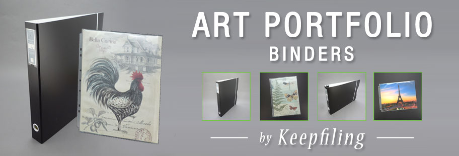 Keepfiling Art Portfolio Binders with Sheet Protectors