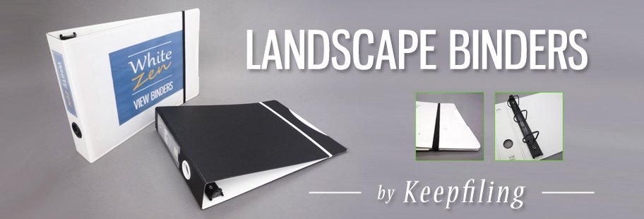 Keepfiling Landscape Binders & Horizontal Binders