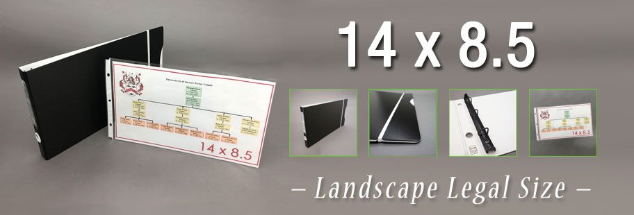 Keepfiling 14x8.5 Landscape Legal size Binders and Sheet Protectors