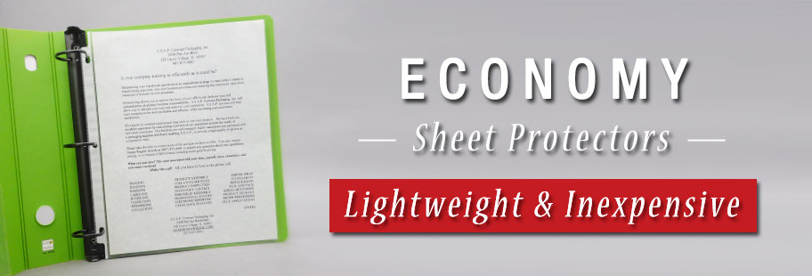 Economy Sheet Protectors from Keepfiling