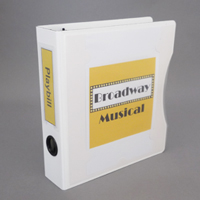 Keepfiling White Zen Playbill View Binder