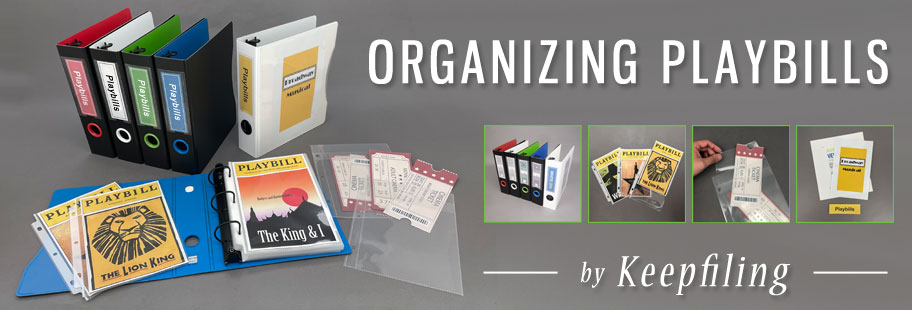 Keepfiling Playbill Organizing Products