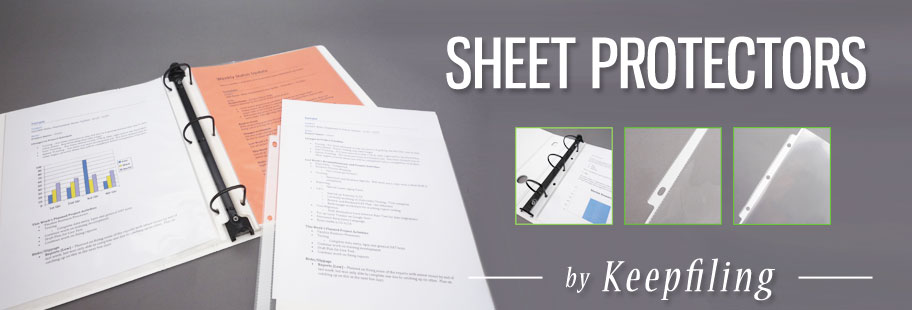 Sheet Protectors Clear - Keepfiling Plastic