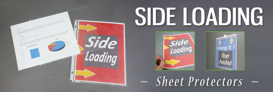 Side Loading Sheet Protectors by Keepfiling