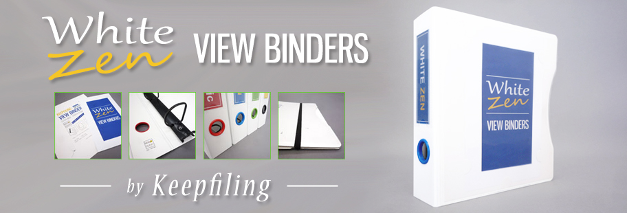 White View Binders - White Zen