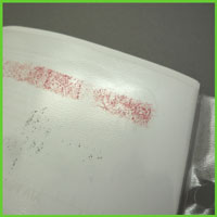 PVC sheet protectors damaged