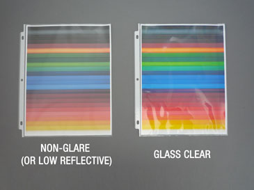 Sheet Protectors - Non-Glare vs. Glass Clear - Color Photos