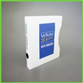 3/4 D-Ring Slim White Zen 5.5 x 8.5 Mini Binder